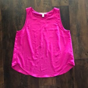 Pink Open-Back Sleeveless Top